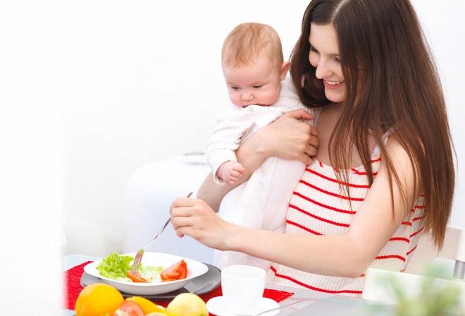 giảm cân sau sinh an toàn cho mẹ