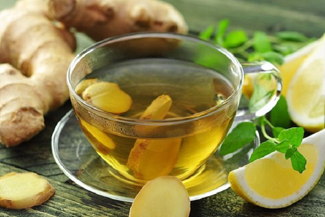 trà gừng và mật ong