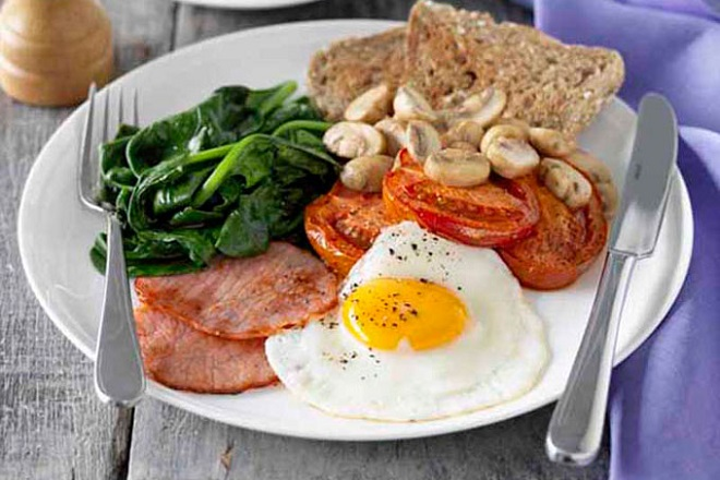 ăn sáng đầy đủ