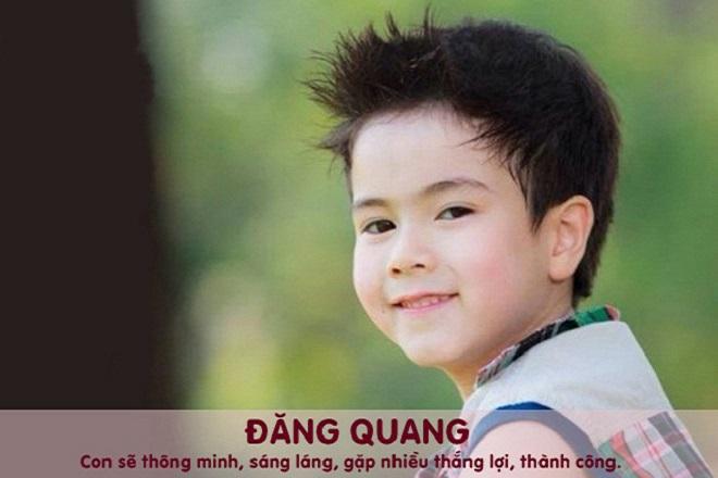 đặt tên cho con trai là Đăng Quang