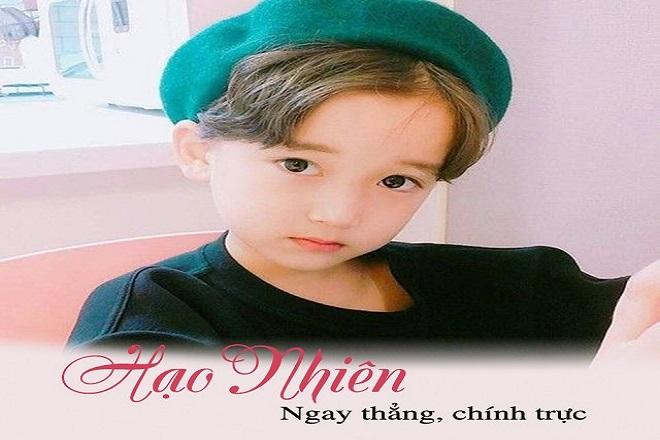 đặt tên cho con trai theo họ  Lê là Hạo Nhiên