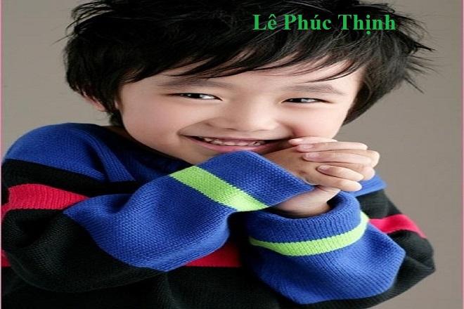 bé trai tên Lê Phúc Thịnh