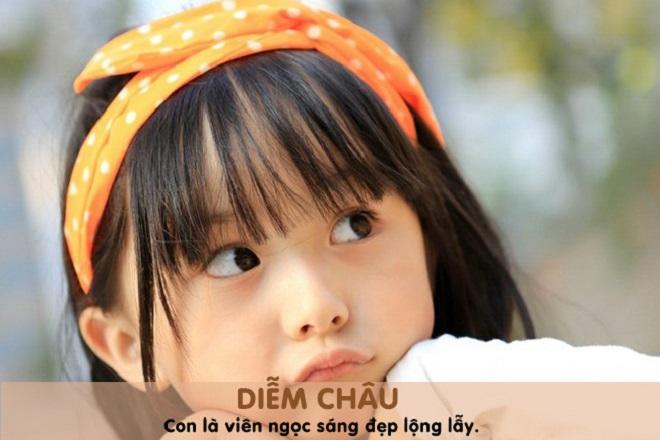 đặt tên cho con gái là Diễm Châu