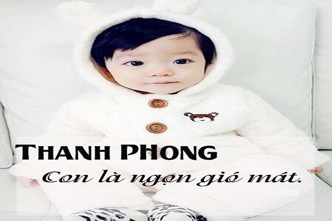 đặt tên cho con trai là Thanh Phong