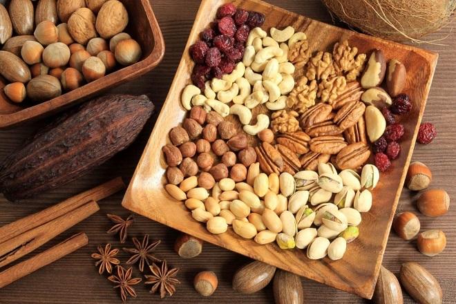 các loại hạt giàu chất béo