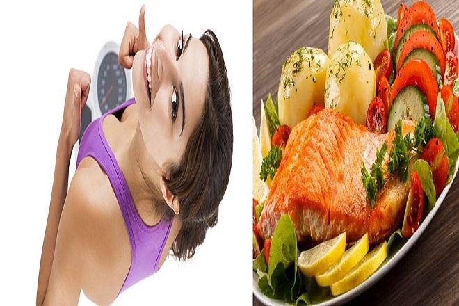 mẹ ăn cá để giảm cân
