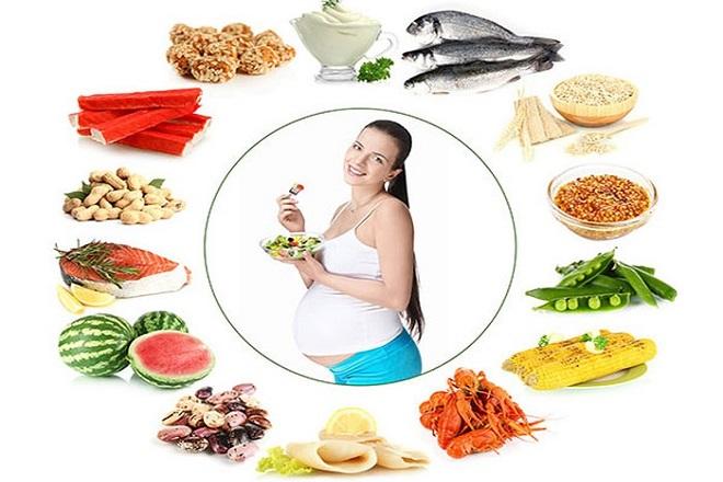 bà bầu 2 tháng cuối nên ăn đa dạng thực phẩm