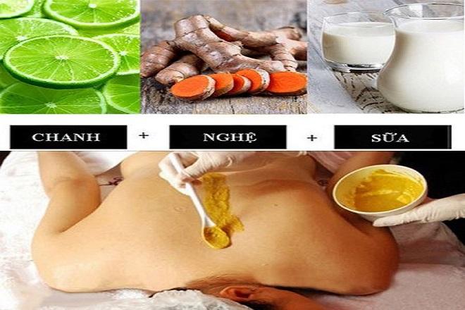 cách tắm nghệ sau sinh với chanh và sữa