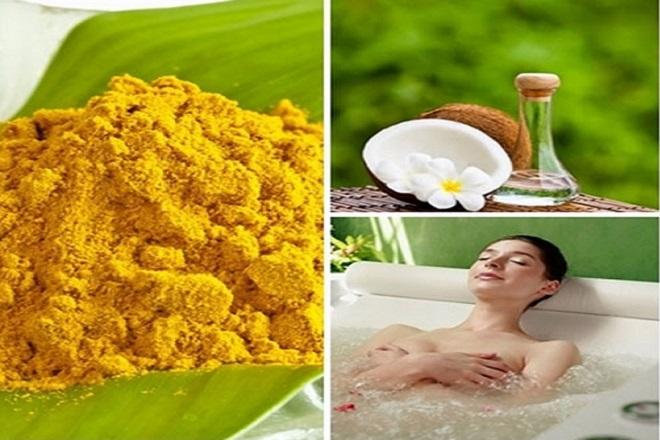 cách tắm nghệ sau sinh với dầu dừa