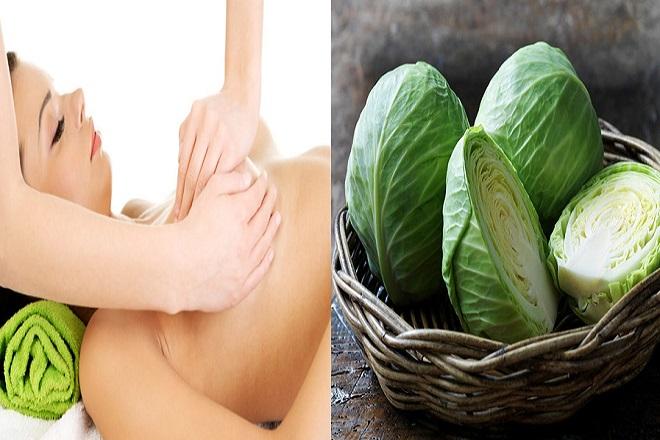 chữa tắc sữa bằng cách đắp lá kết hợp massage