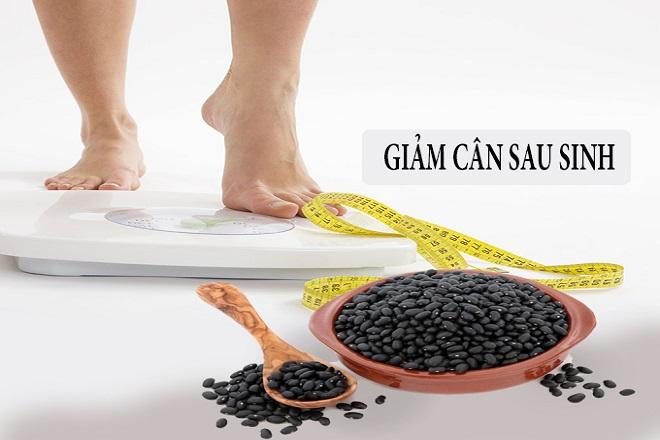 giảm cân siêu tốc sau sinh với đậu đen