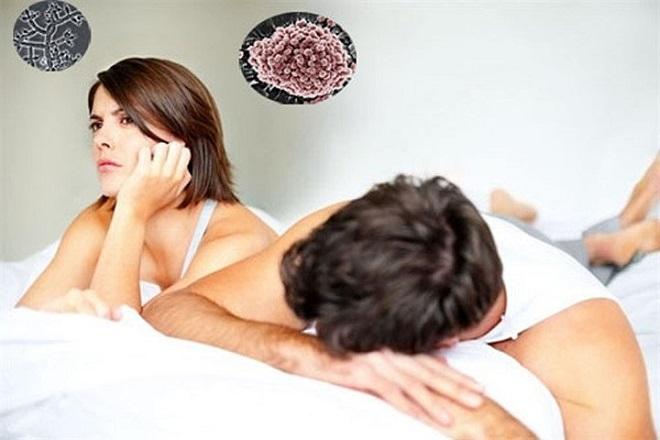 Mắc phải các bệnh lây truyền qua đường tình dục