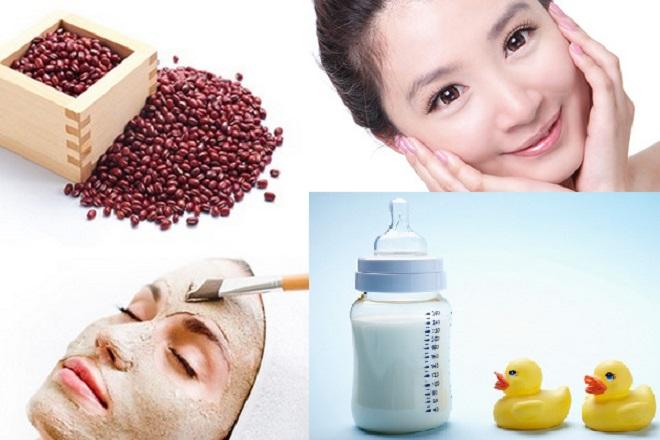 Mặt nạ sữa mẹ kết hợp bột đậu đỏ