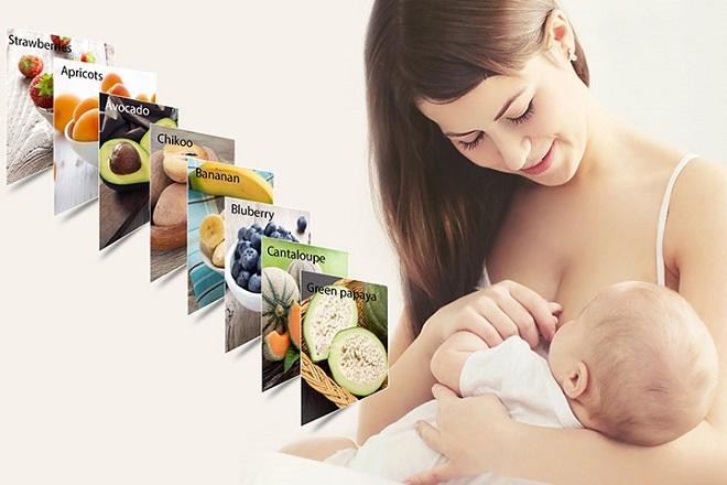 mẹ sau sinh nên ăn hoa quả để tốt cho con bú