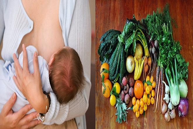 mẹ sau sinh nên bổ sung rau củ