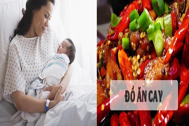 mẹ sau sinh tránh ăn đồ cay nóng