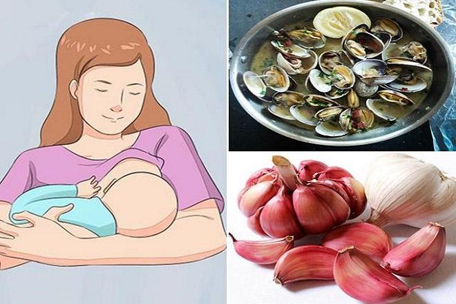 mẹ sau sinh tránh ăn thực phẩm có mùi