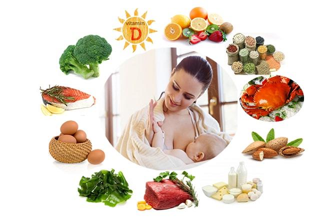 sau sinh nên ăn hoa quả và các thực phẩm khác