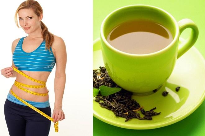 uống trà xanh giảm cân siêu tốc sau sinh
