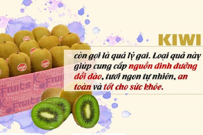 ăn kiwi giúp giảm cân sau sinh