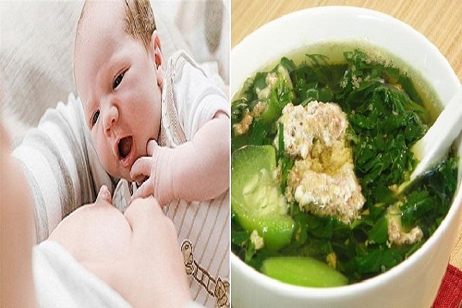 canh rau đay lợi sữa cho bé bú