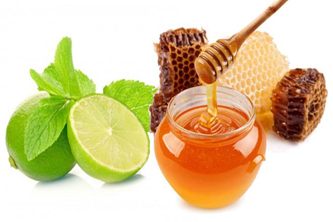 chanh và mật ong trị ho cho bé