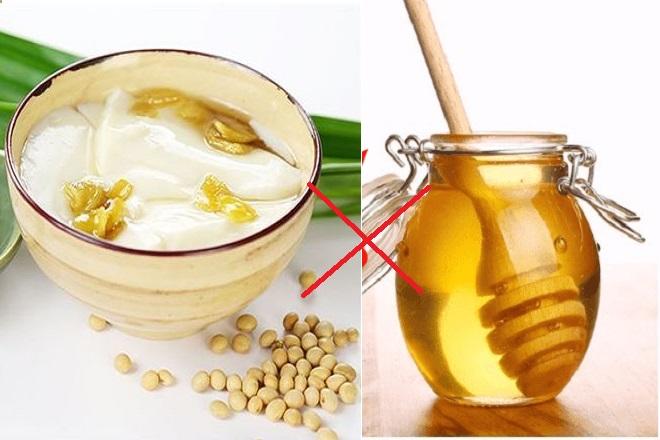 tàu hủ và mật ong là các món ăn kỵ nhau