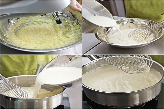 các bước làm bánh su kem