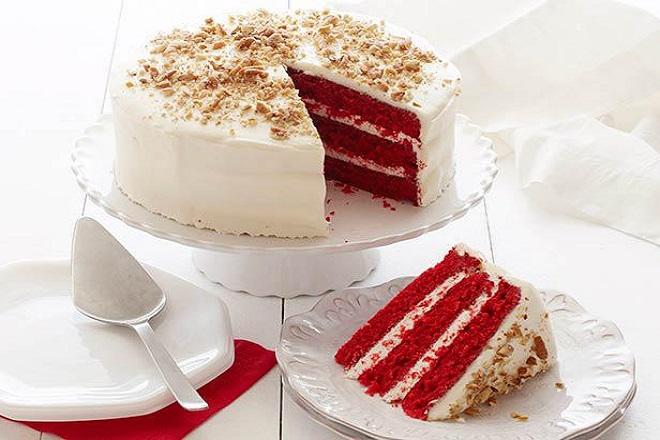 cách làm món bánh cheesecake red velvet