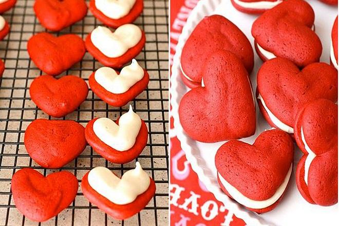cách làm món bánh red velvet trái tim