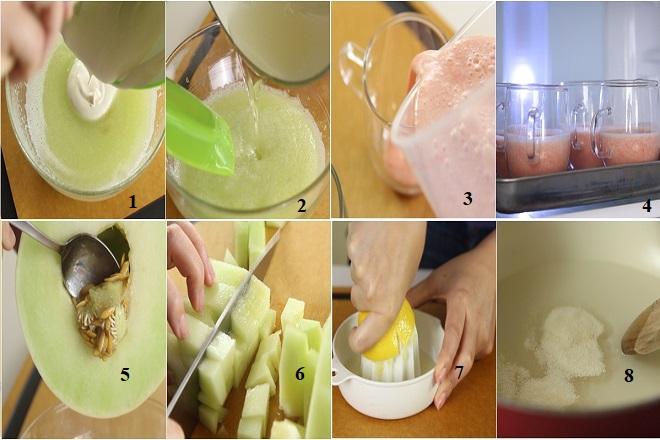 cách làm bánh mousse dưa hấu và dưa gang