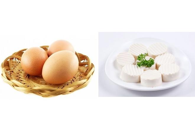 canh đậu phụ trứng gà