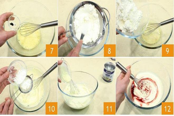 công thức làm bánh cheesecake ngon bước 3-4