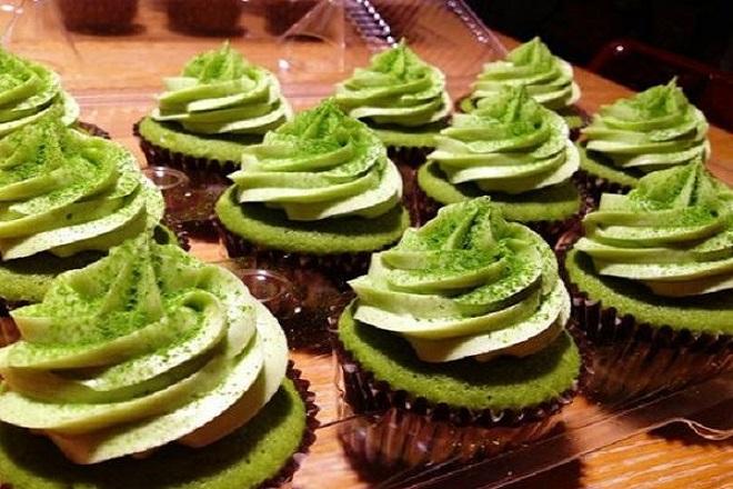 công thức lam ab1nh cupcake trà xanh