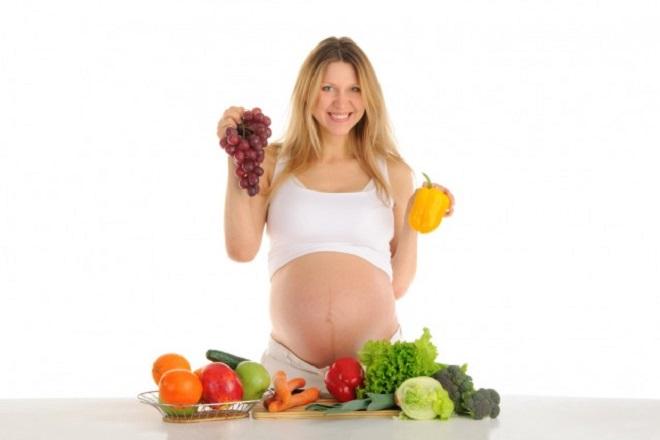 dinh dưỡng lành mạnh khi mang thai