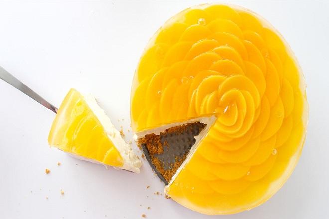 công thức làm bánh cheesecake đào