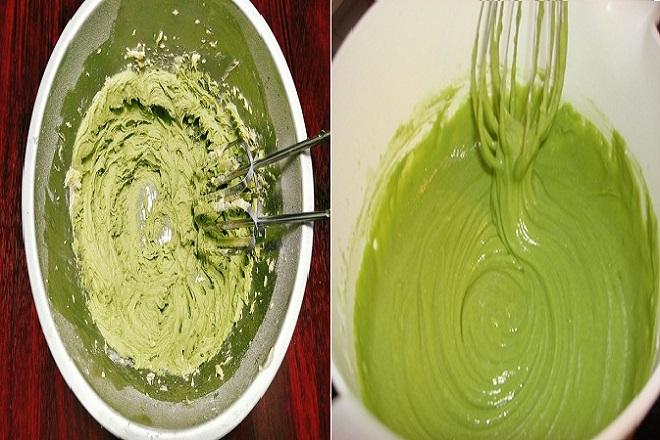 hỗn hợp làm bánh cupcake trà xanh