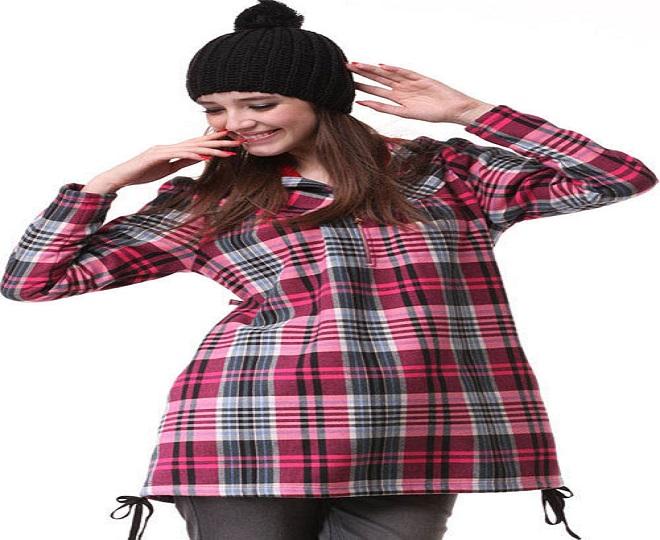 kiểu áo bầu tay dài cho bà bầu mùa đông