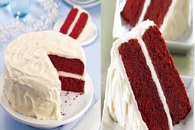 làm món bánh cheesecake red velvet