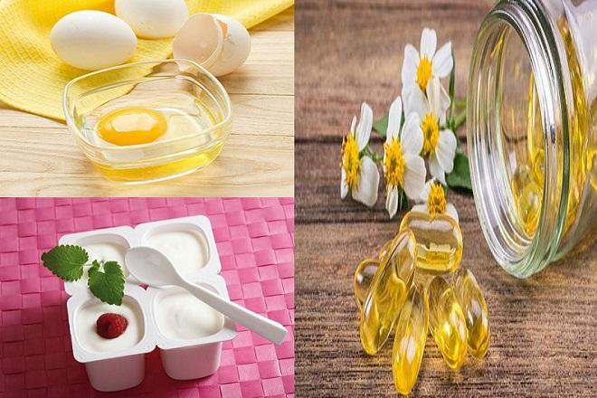 mặt nạ đắp ngực từ trứng sữa chua và vitamin e