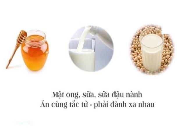 sữa đậu nành kỵ mật ong