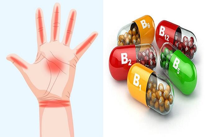 tê bàn tay sau sinh do thiếu vitamin nhóm b