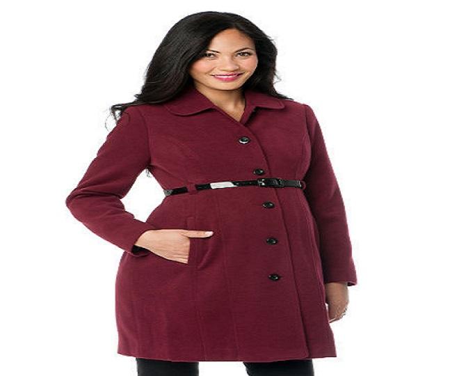 thời trang áo khoác dạ mùa đông cho bà bầu công sở