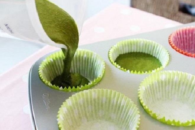 công thức làm bánh cupcake trà xanh