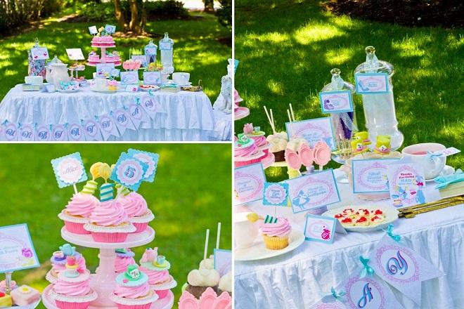 Trang trí tiệc sinh nhật theo chủ đề Alice