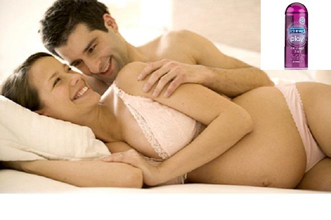 tránh dùng gel bôi trơn quan hệ tình dục khi mang thai
