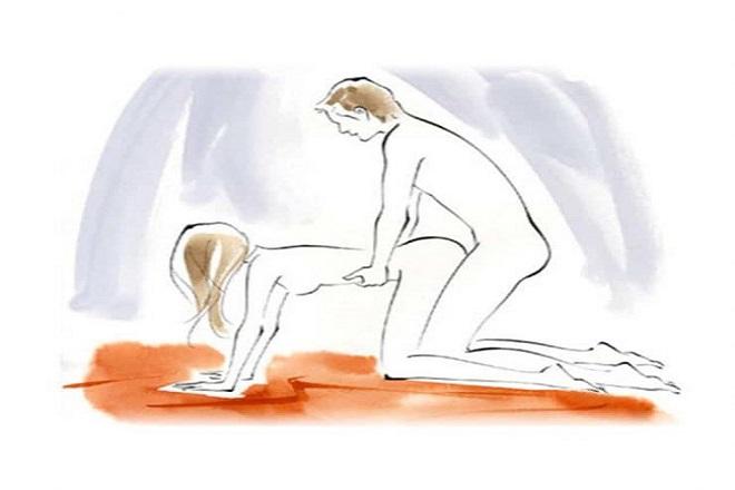tư thế doggy là tư thế quan hệ an toàn khi mang thai
