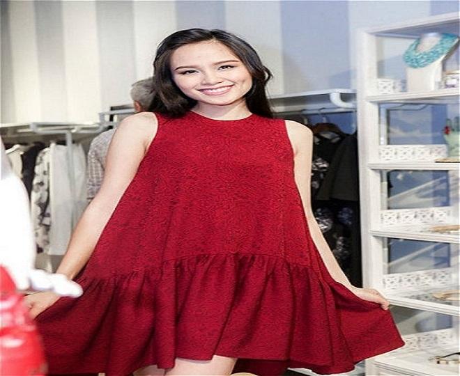 váy dáng xòe rộng là guu thời trang 3 tháng đầu cho bà bầu