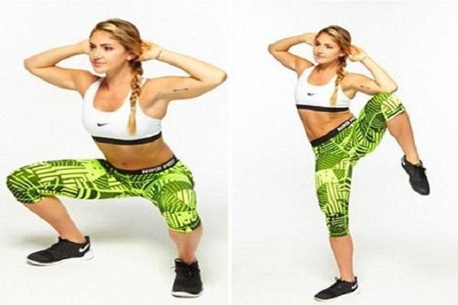 Động tác squat cho vòng 3 cơ liên sườn