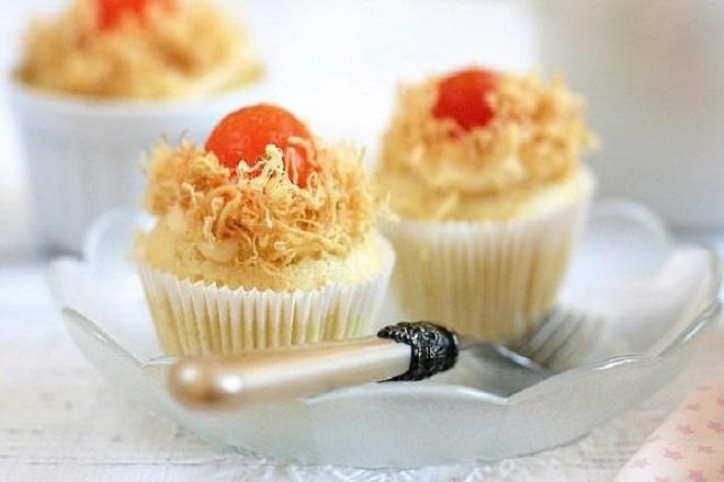cách làm cupcake trứng muối ngon mê ly